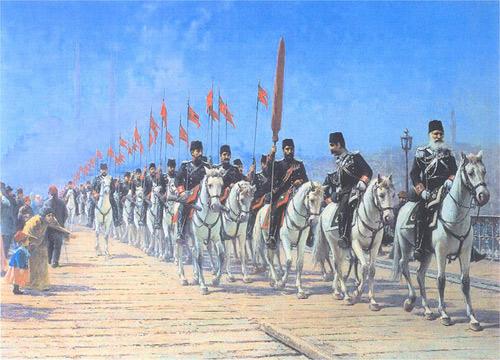 Reggimento Imperiale di Ertogrul sul Ponte di Galata