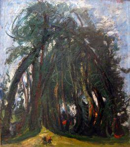 Il viale d'alberi