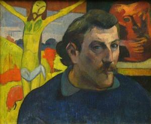 Ritratto dellìartista con il Cristo giallo