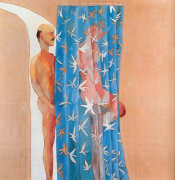 Due uomini in una doccia