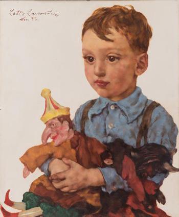 Bambino con Kasper Puppet - Lotte Laserstein