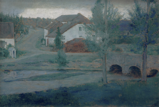 A Fosset, l'entrata del villaggio - Fernand Khnopff