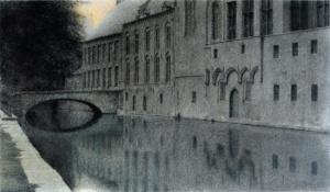 Ricordo delle Fiandre. Un canale - Fernand Khnopff