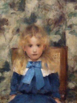 Ritratto della Signorina Van der Hecht - Fernand Khnopff